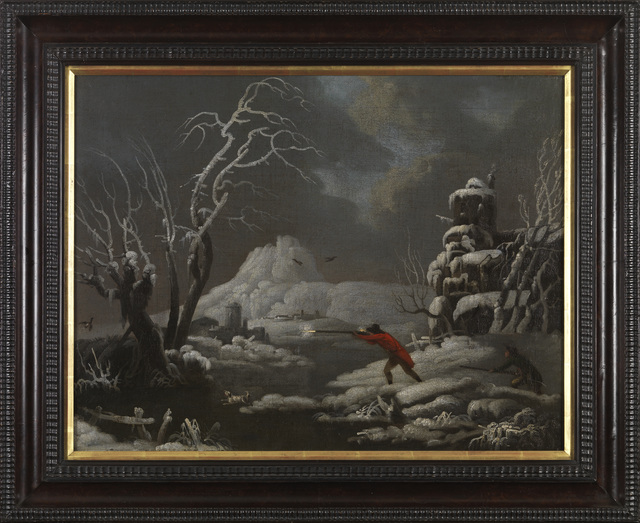 , 'Hunting at First Light,' 18th century, Cross Gate Gallery