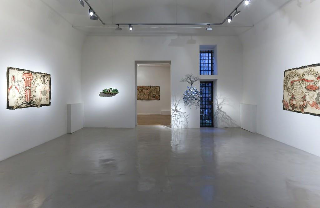 "Installation view ""Arriaca"" Simone Pellegrini - Jorge Mayet"