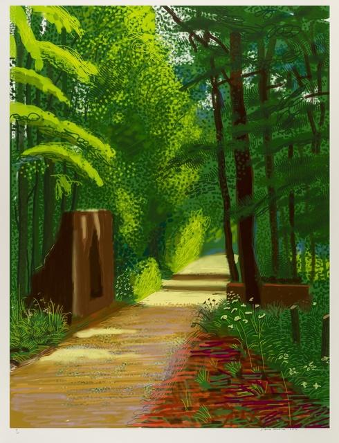 David Hockney, 'The Arrival of Spring in Woldgate, East Yorkshire in 2011 (Twenty-Eleven) - 2 June 2011', 2011, Forum Auctions