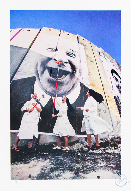 JR, '28 MILLIMÈTRES, FACE 2 FACE, NUNS IN ACTION, SEPARATION WALL, SECURITY FENCE, PALESTINIAN SIDE, BETHLEHEM, 2007', 2018, Lougher Contemporary