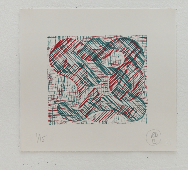 Richard Deacon, '1+1=10 Red/Green', 2013, STPI