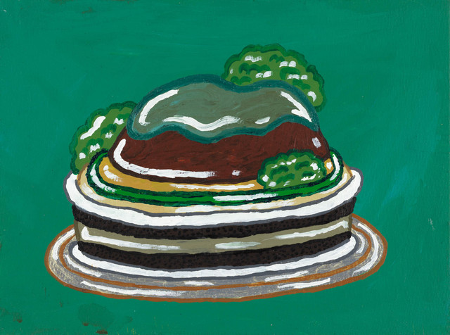 Yukari Sakura, 'Harambe's Lowland Hills Cake', 2016, Painting, Acrylic on canvas board, Creativity Explored