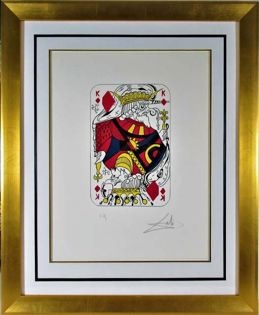 """Salvador Dalí, '""""King of Diamonds"""" from the suite """"Playing Cards""""', 1972, Joseph Grossman Fine Art Gallery"""