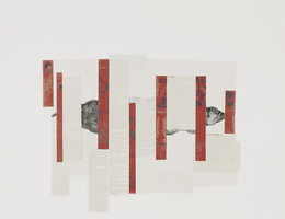 Ellen Gallagher, 'La Chinoise', 2008, Drawing, Collage or other Work on Paper, Pencil, ink and cut paper on paper, Gagosian