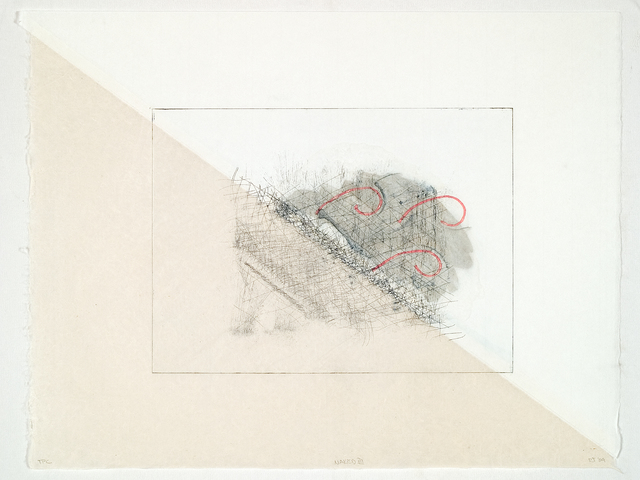 Richard Tuttle, 'Naked III', 2004, Print, Color soft ground etching with hand staining and dyed string, Crown Point Press