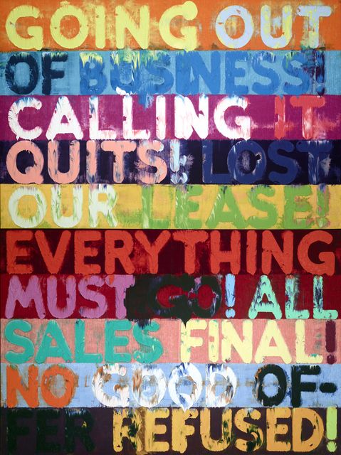 , 'Going Out Of Business,' 2014, Simon Lee Gallery