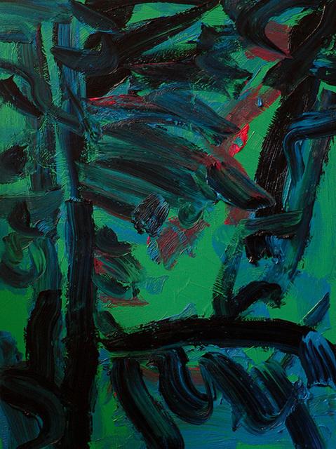 Friedemann Hahn, 'Wald', 2011, Painting, Oil on canvas, Flowers