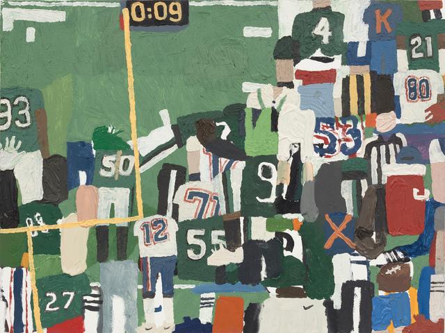 , 'Cooler, QB, Referee, Clock,' 2018, Steve Turner