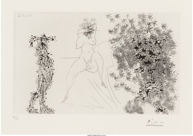 Pablo Picasso, 'Cauchemar, pl. 250, from Series 347', 1968, Print, Aquatint on wove paper, Heritage Auctions