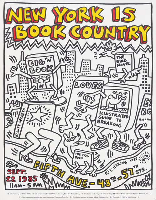 Keith Haring, 'New York is Book Country.', 1985, Rennert's Gallery