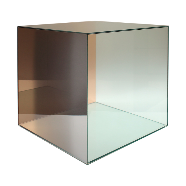 Larry Bell, 'Cube # 32  (Amber / Green)', 2005, Sculpture, Coloured glass coated with inconel, Bernard Jacobson Gallery