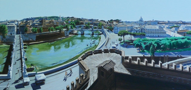 David Wheeler, 'Study: Tiberis Quo Vardis (View From Castle St Angelo Overlooking the River Tiber Rome)', 2016, Plus One Gallery