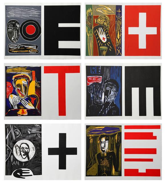 Mimmo Paladino, 'Lacrimose, Portfolio of Woodcuts', 1986, RoGallery