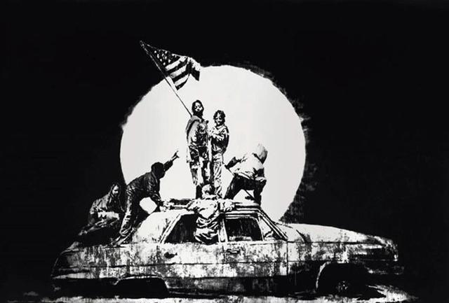 Banksy, 'Silver Flag', 2008, Stowe Gallery