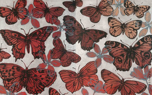 , 'Butterflies in Fall (Diptych),' 2015, Caldwell Snyder Gallery