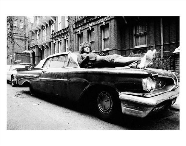 Mick Rock, 'Syd Barret, Lying on Car, Earls Court Square, London', 1969, The Bonnier Gallery