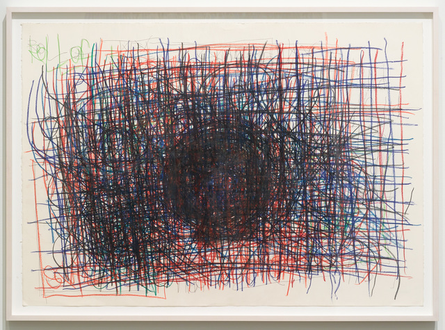 , 'Untitled (Black circle over red and blue),' 2012, Diane Rosenstein