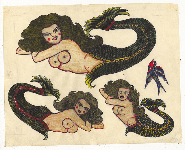 , 'Untitled (Three Mermaids),' 1950, Ricco/Maresca Gallery
