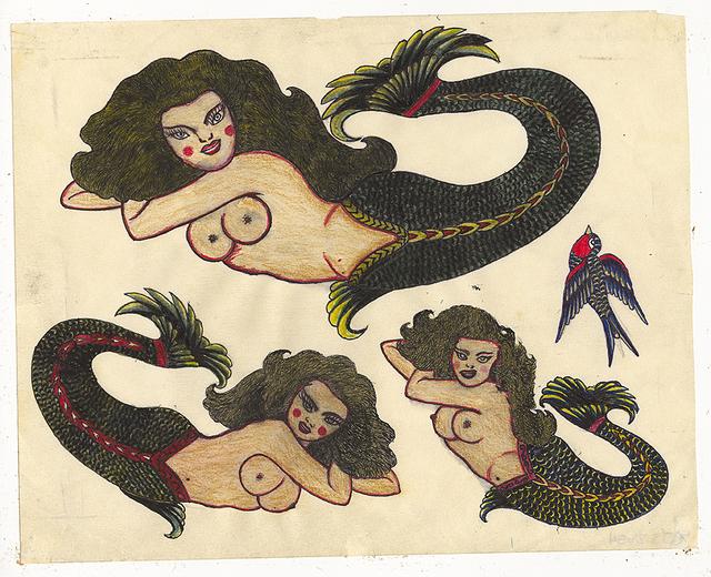 , 'Untitled (Three Mermaids),' 1950, Ricco/Maresca Gallery