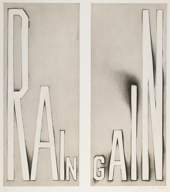 Ed Ruscha, 'Rain Gain', 2014, Rago