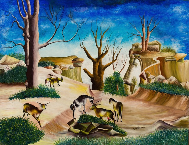 Andrew Saturne, 'Six Goats, Parched Earth', ZQ Art Gallery