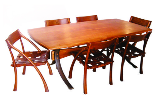 ", 'Chi Table shown with 6 ""Wishbone"" chairs signed ESPENET '70,' 1969-1970, Reform Gallery"