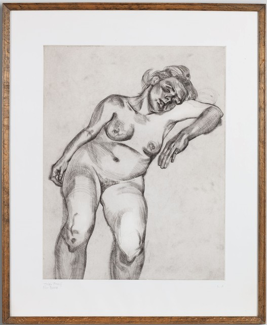 Lucian Freud, 'Blond Girl', 1985, Print, Etching, Marlborough London