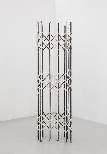 , 'Scherengitter 1 (white),' 2014, RaebervonStenglin
