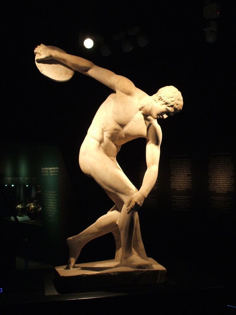 , 'Discus-thrower (discobolus), Roman copy of Myron's bronze original of the 5th century B.C.,' , British Museum
