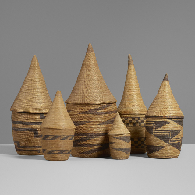'Collection of six Agaseke (baskets)', Wright