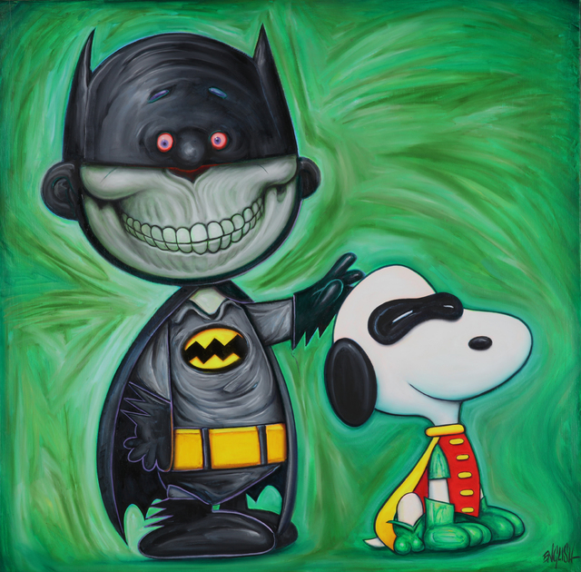 , 'Batman and Snoopy,' 2019, Corey Helford Gallery