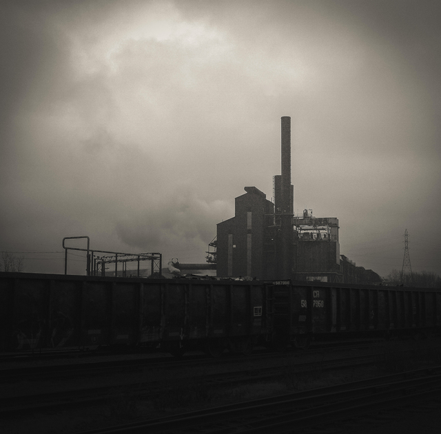 , 'West 3rd Scrap Train and Steel Mill,' , The Bonfoey Gallery