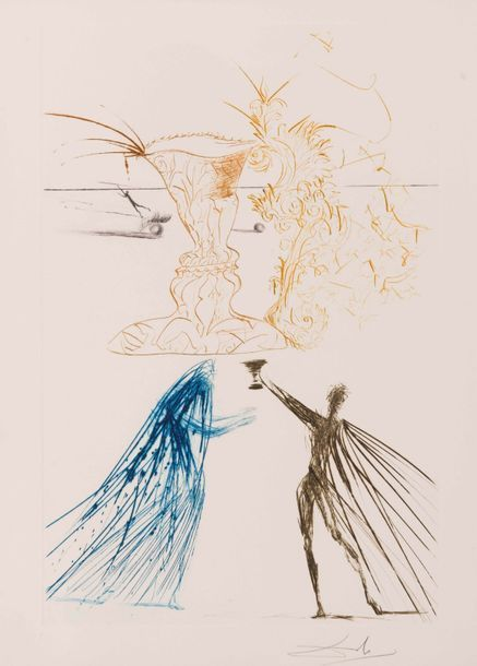 Salvador Dalí, 'Tristan and Iseult', 1970, Print, Etching on paper, Samhart Gallery