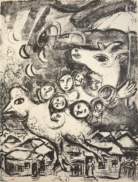 Marc Chagall, 'Le Cirque M. 495', 1967, Print, Original lithograph printed on Velin d'Arches wove paper, Galerie d'Orsay