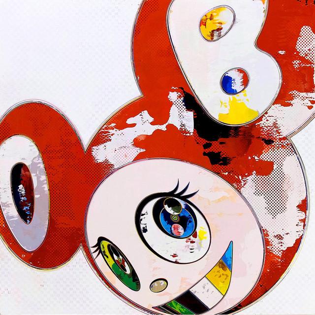 Takashi Murakami, 'And Then x 6 (Red: The Polke Method)', 2013, Dope! Gallery