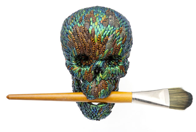 , 'Skull with brush (artificial hair),' 2015, Van Gogh Museum
