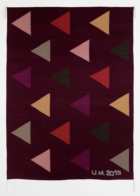 , 'Rug (con triángulos),' 2015, Callicoon Fine Arts