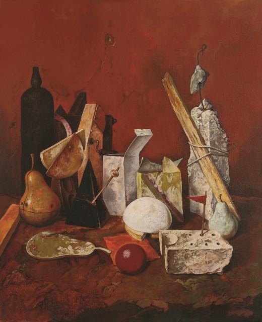 Samuel Bak, 'Bottle and Ball, Oil on canvas, 76X61 cm. Signed.', b. 1933, Tiroche Auction House & Gallery