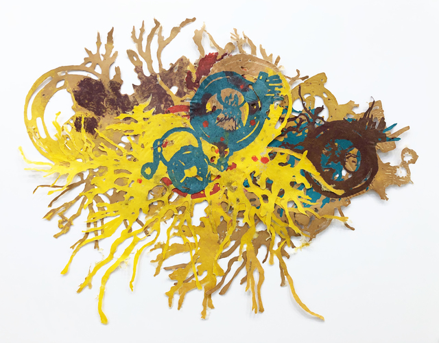 Joan Hall, 'The New Living Reef #3', 2020, Drawing, Collage or other Work on Paper, Handmade paper using kozo, gampi, and abaca, Childs Gallery