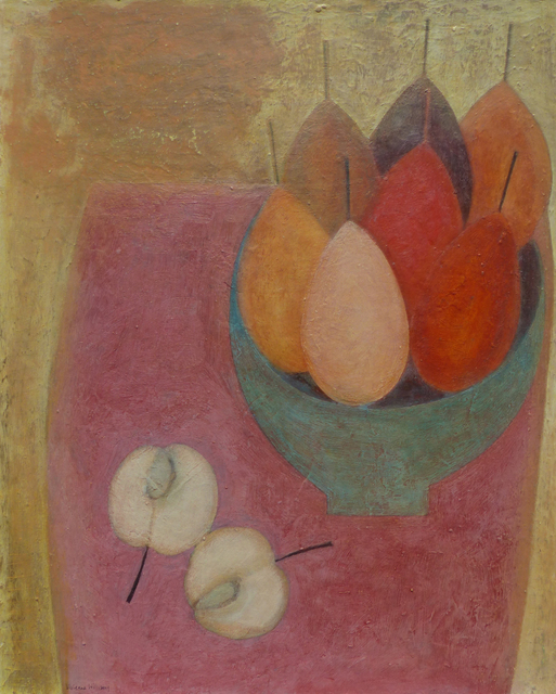 , 'Pink Table with Apple & Pears,' 2018, Thackeray Gallery