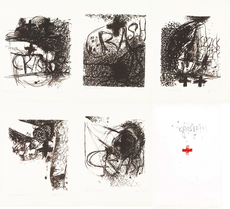 Jim Dine | CAR CRASH I-V AND END OF THE CRASH (MIRKO 1-6) (1960 ...