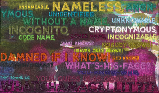 Mel Bochner, 'Unnameable', 2019, Two Palms