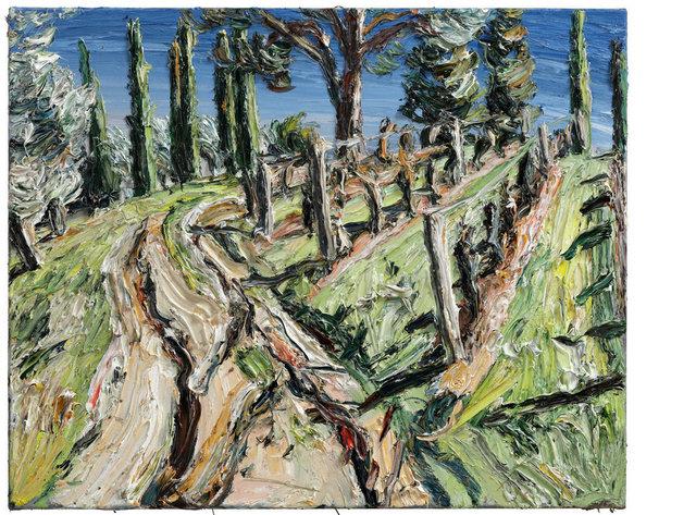 , 'Sonniger Weg am Weinberg, Vallocaia,' 2016, Ludorff