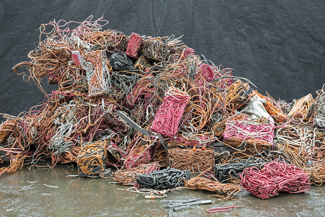 , 'Recovered pyro-cable, a variety of electrical cable made from copper conductors inside a copper sheath insulated by mineral magnesium oxide. They may be covered by an addi- tional colored plastic sheath for identification. ,' 2015, Anastasia Photo