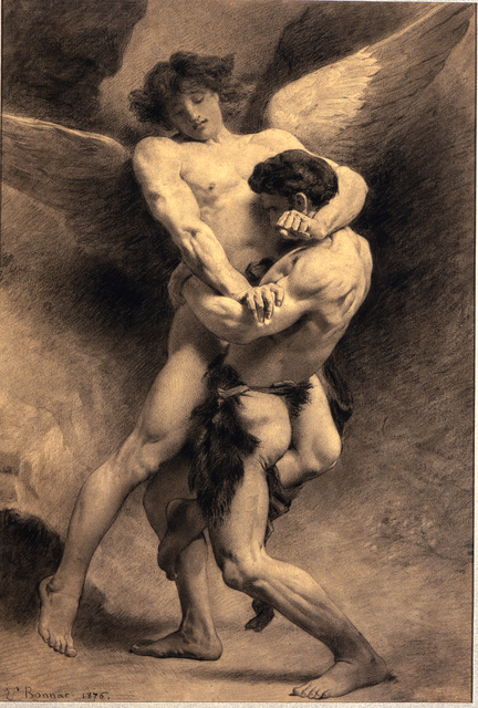 , 'Jacob Wrestling the Angel ,' 1876, New York Academy of Art
