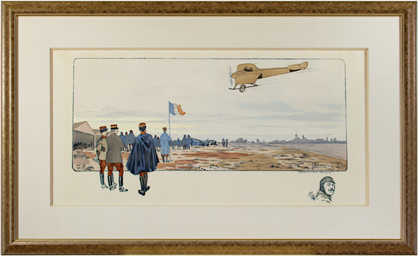 , 'French Air Show With Remarque of Head of Pilot,' 1911, David Barnett Gallery