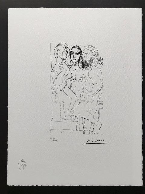 Pablo Picasso, 'Sculpteur, modèle et sculpture de femme assise (Suite Vollard Planche XL)', 1973, ByNewArt