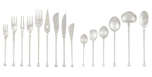 Josef Hoffmann, 'Sterling Silver Flatware Service', Doyle