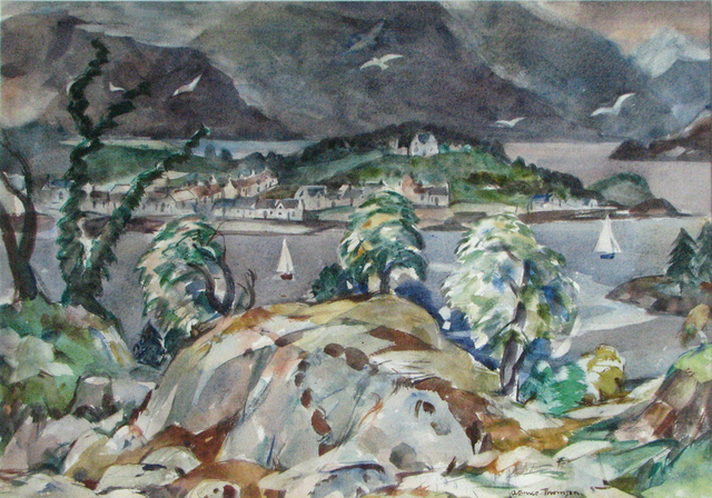 , 'Overlooking Plockton,' ca. 1946, The Scottish Gallery
