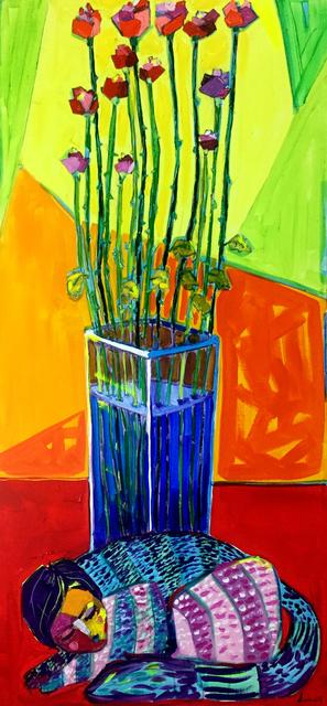 Lancelot Alonso, 'Las rosas y el gato', 2017, ArteMorfosis - Cuban Art Platform
